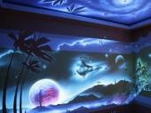 светящиеся 3d обои для стен