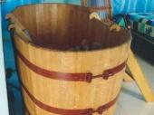 деревянная бочка-купель для бани