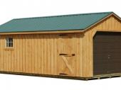 деревянный гараж на одну машину