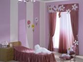 красивый дизайн штор для детской комнаты