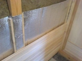 утепление стен каркасной бани