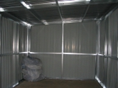 каркасно-щитовой гараж изнутри