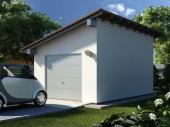 плоская наклонная крыша гаража