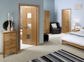ламинированнные двери в спальне