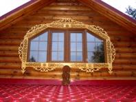 деревянный наличник на нестандартное окно