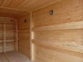 отделка стен гаража деревом