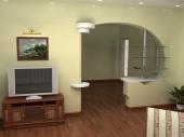 декоративные межкомнатные стены из гипсокартона