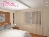 Потолок из гипсокартона фото спальня