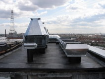 вывод приточно-вытяжной вентиляции на крышу