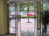 стеклянные распашные входные двери