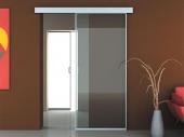 роликовая откатная дверь в интерьере
