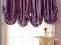 оригинальные шторы в интерьере кухни