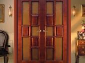 двустворчатые двери из сосны