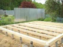строительство бани из дерева
