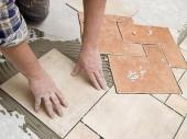укладка плитки на пол по сложному рисунку