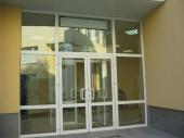 пластиковые распашные входные двери