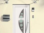 металлические современные входные двери