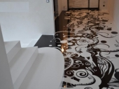 декоративный заливной пол